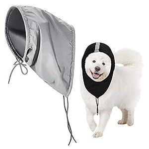 Geyoga 2 Pieces Waterproof Dog Snood Dog Neck and Ears Warmer Reflective Dog Neck Ear Scarf Dog Snood Headband Dog Scruff Snood Winter Dog Neck Headwear
