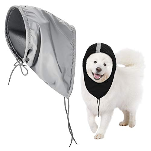 2 Piezas Calentador de Cuello y Orejas de Perro Bufanda de Perro Diadema Pañuelo de Cabeza de Perro de Invierno