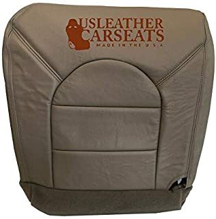 """USLeatherCarSeats Compatible with 1999 Ford F250 Super-Crew-Cab Lariat -Driver Side Bottom Leather Seat Cover Medium Prairie """"Tan"""""""