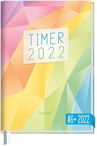 Chäff-Timer Mini Kalender 2022 A6+ [Rainbow] mit 1 Woche auf 2 Seiten | Terminplaner, Wochenkalender, Organizer, Terminkalender mit Wochenplaner | nachhaltig & klimaneutral