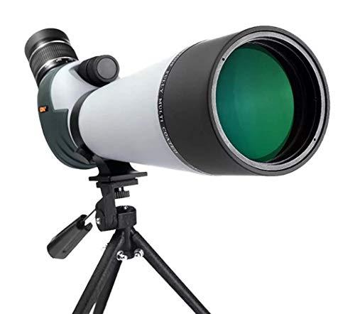 TMBDYE 20-60x80 Zoom Telescopio monocular de Recubrimiento múltiple múltiple, telescopio Impermeable, Ocular en ángulo de 45 Grados BAK-4 con trípode para Francotirador de observación de Aves