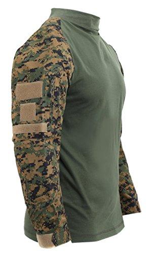 Rothco Tactical Airsoft Combat Shirt, Woodland Digital Camo, XL