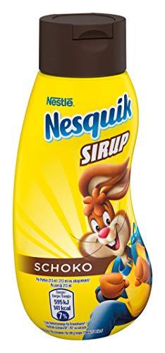 Nestlé NESQUIK, Schoko Sirup, verfeinert: als Topping für Getränke & Desserts, zum Einrühren in Milch, für leckere Trinkschokolade, 1 x 300 ml