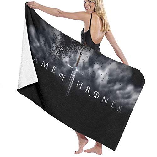 Custom made Toallas de baño de microfibra con logo de Juego de Tronos, 70 x 140 cm, toalla de playa grande para deportes y accesorios de camping