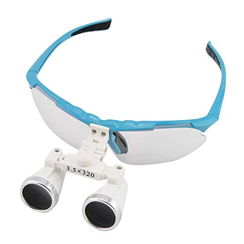 FJLOVE Médico Quirúrgico Dental Gafas Lupas Binoculares Odontologia 3.5X para Cirugía Dental Cerebral Operación de Anastomosis Vascular Otros