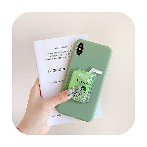 Schutzhülle für iPhone 12 Pro Max 11 X Xs Max Xr 8 7 6 6S Plus 8 Plus 3D Soft Silikon Coque Cover - Grün