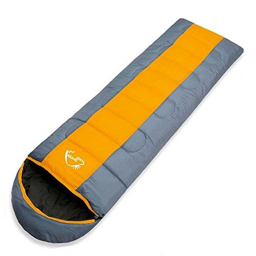 Docooler Schlafsack, Umschlag Mit Kapuze Außen Reisen Camping Wasserdicht Thick, Angenehme Temperaturskala:+ 5℃ ~ + 10℃.