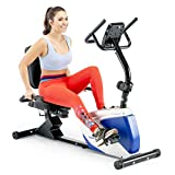 Marcy 8 Levels Magnetic Resistance Recumbent Exercise Bike with Adjustable Seat, 250-lb Capacity ME-1019R
