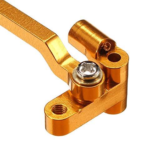 TOOGOO 1 StüCk Metall Upgrade Lenk Zylinder Montage Block für Wltoys A949 A959-B A979-B A969, Grau