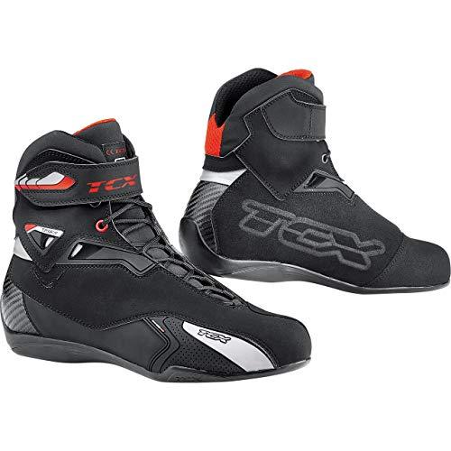TCX Motorradschuhe, Motorradstiefel kurz Rush Waterproof Stiefel schwarz 48, Unisex, Sportler, Sommer, Leder/Textil