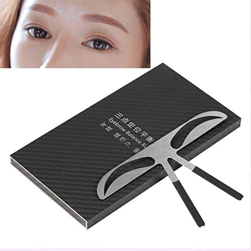 3 types règle de sourcil - règle d'équilibre de positionnement pour l'outil de mesure de maquillage permanent, gabarits de stencil sourcil bricolage - outil de positionnement (Lady Eyebrow)