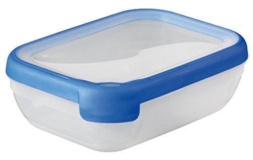 CURVER Bote Hermetico Rectangular 1,2L Grand Chef, Compuesto, Azul, 18x13x4.5 cm
