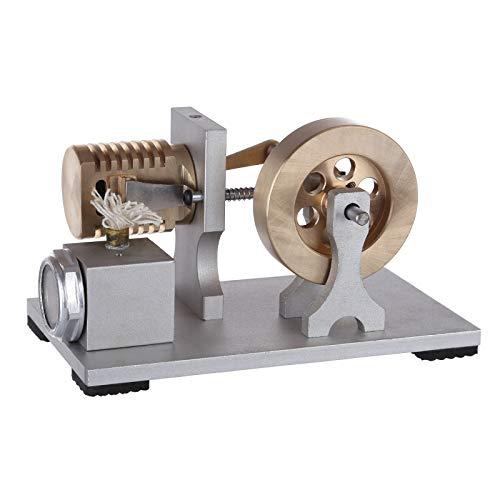 Leic Stirling Motor Modell Ganzmetall Einzylinder Flammenfresser Motor Vakuum Modell Spielzeug Geschenk mit doppelter Lagerunterstützung für Kinder Erwachsene
