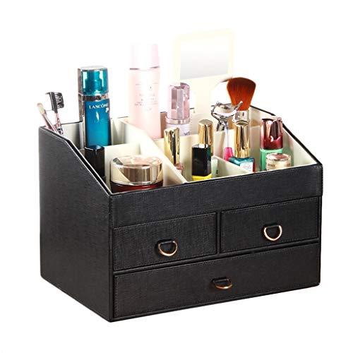 Boîte de Rangement cosmétique (Color : Black)