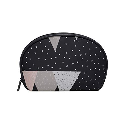 Shell Shape Toiletry Makeup Bag Beautiful Natural Mountain Range Print Makeup Organizer Best Makeup Bag Portable Travel Multifunction Storage Bag With Zipper For Women
