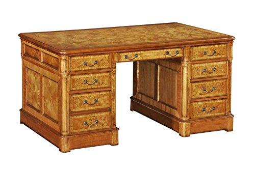 Hampton con piedistallo da tavolo con piano in legno (grande)