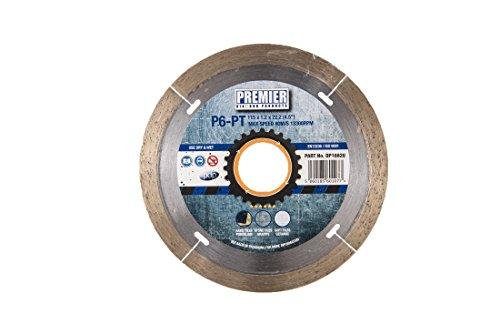 Premier Diamond dp16820 p6-pt lemmet continue rand voor porselein en harde tegels, zilver/messing, 115 x 22,2 mm