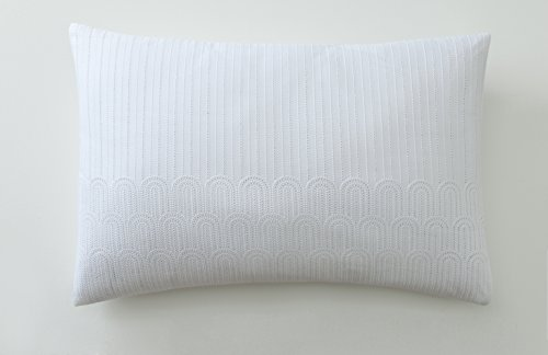 Anne de Solene Taie D'oreiller Retro White Coton Blanc 50 x 75 cm