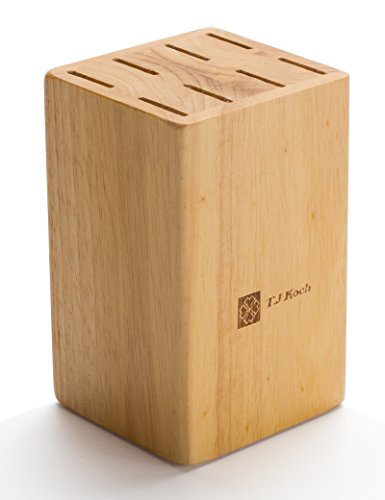 Knife Block For Steak Knives 5 Inch Utility Knives 8 Piece Slot Organizer Durable 100% Natural Wood Holder Storage In Drawer Cabinet Kitchen Centerpiece