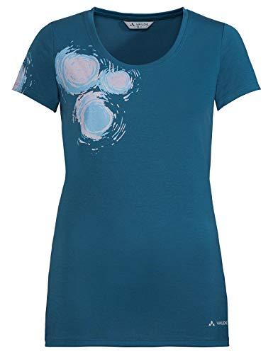 VAUDE Damen T-shirt Women's Gleann Shirt V, kingfisher, 42, 408853320420