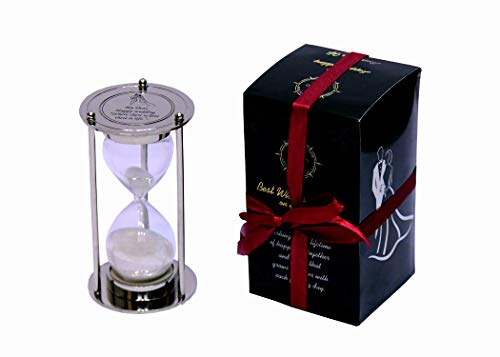 Wedding gift Fillable Unity Hourglass Sand Timer - Engraved Wedding ceremony Gift - Sand Ceremony Contemporary Custom sand Hourglass.