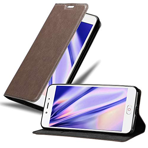 Cadorabo Hülle für ZTE Nubia N2 in Kaffee BRAUN - Handyhülle mit Magnetverschluss, Standfunktion & Kartenfach - Hülle Cover Schutzhülle Etui Tasche Book Klapp Style
