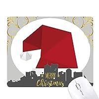 抽象的なクリスマスの帽子の折り紙のパターン クリスマスイブのゴムマウスパッド