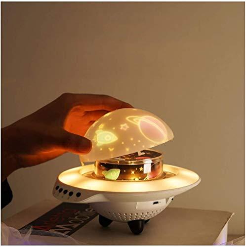 GMYQ UFO Projection Music Sky Light Bluetooth control remoto luz nocturna giratoria x 1 necesidad de acercarse a la luz de proyección y puede controlarla libremente. El mejor regalo para niños