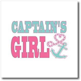 3dRose ht_165883_3 Captains Girl Cute Anchor and Heart Rope Pink and Aqua-Iron on Heat Transfer Paper for White Material, 10 by 10-Inch