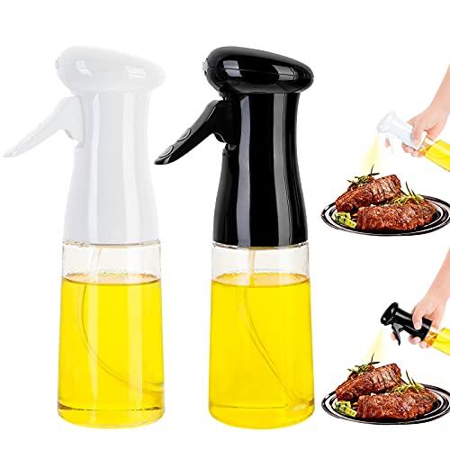 Oil Sprayer for Cooking, 2Pack Olive Oil Sprayer Mister for Air Fryer, Versatile Oil Spray Bottle, Refillable Spritzer Dispenser for Cooking, Grilling, Salad, BBQ, Baking, Roasting, Frying, Kitchen