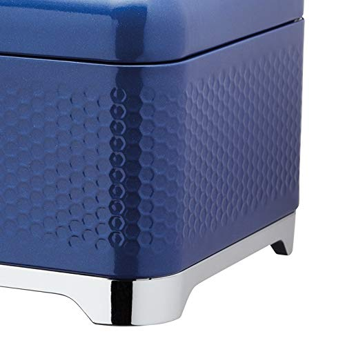 KitchenCraft Lovello Textured Bread Bin - Midnight Navy