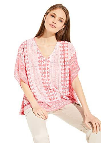 comma Damen Poncho aus Chiffon pink geometric print 1