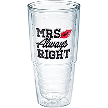 Tervis Mrs. Always Right 24oz Clear Tumbler