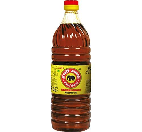 Elephant Brand Hathi Marka Kacchi Ghani Mustard Oil 1L Bottle - 1 PC