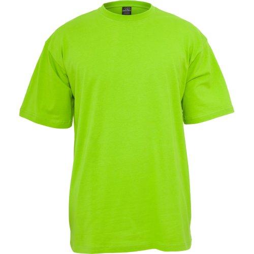 Oferta de Urban Classics Basic Crew Neck Tall Tee, Camiseta, para Hombre, limegreen, L