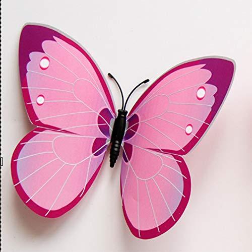 aolongwl Calamite da frigo 12 Pezzi Magnete per Frigorifero 3D Farfalla Rosa Vestito per Bambini Decorazione della Cucina di Casa Ornamenti Idee Regalo Magneti per Frigoriferi per