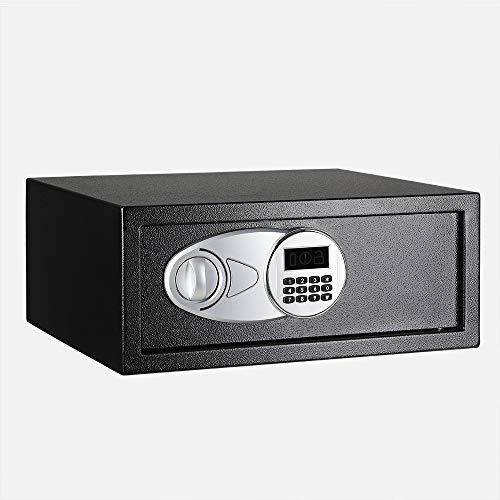 AmazonBasics - Caja fuerte (20L), color negro