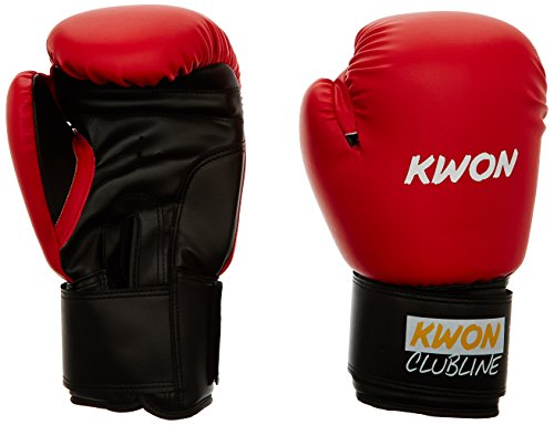 KWON Boxhandschuh Clubline Pointer, rot/schwarz, 10 oz, 554005410