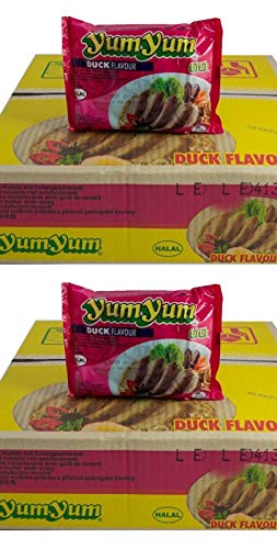 Pamai Pai® Doppelpack: 2 Kartons YumYum Ente Instant Nudelsuppen 60 x 60g Yum Yum Duck