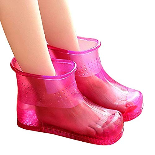 Massage Foot Bath Shoes,Spa Portable Foot Massage Bath Shoes Bucket Boots Promote Blood Circulation Best Gift for Women