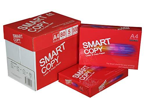 Caja Folios A4 Blancos para Impresoras Smart Copy paquete de 500 hojas (10)