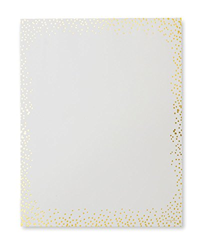 Ivory & Gold Dots Stationery Paper - 40 Count