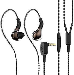 BLON 3-tums öronhörlurar, 10 mm kolmembran dynamisk drivbas HiFi DJ i örat skärm, diamantspegelprocess i örat hörlurar med...