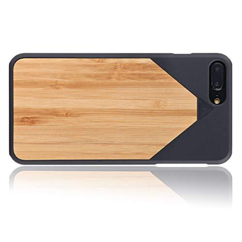 WOLA Carcasa Madera para iPhone 7 Plus / 8 Plus WOOD7 Funda de Madera bambú