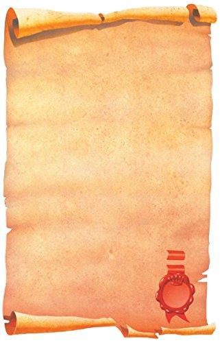 Decadry SPF6634 Carta a Tema, Pergamena, con Sigillo, 80 G, Confezione da 25