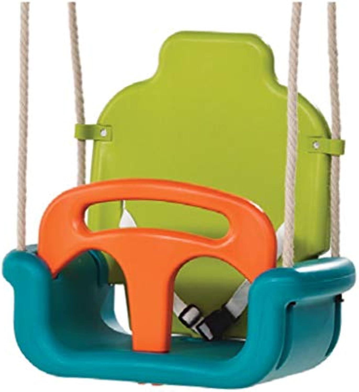 Schaukeln Kinderwachstumstyp Schaukel nach Hause Innenverdickung DREI-in-1 Auenschaukel Schaukel Vorne und Hinten Abnehmbare Babyschaukel Schaukeln (Farbe   Grün)