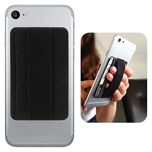 Premium Card Holder Stick on Wallet Works for vivo V20 Pro 5G with Room for 3 Cards & Secure Carry Strap (Black)