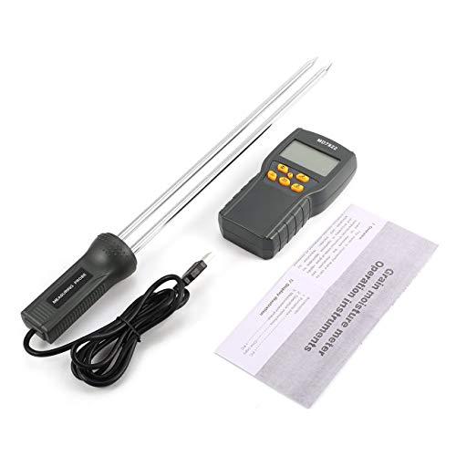 Ballylelly MD7822 Digital Getreidefeuchtigkeitsmesser Analysator Temperatur Thermometer Luftfeuchtigkeit Hygrometer Wasser Feuchtemelder Tester