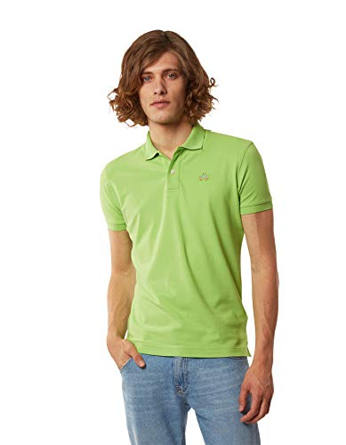 La Martina Herren Man Polo S/s Piquet STR Poloshirt, Grün (Lime Green 03017), X-Large