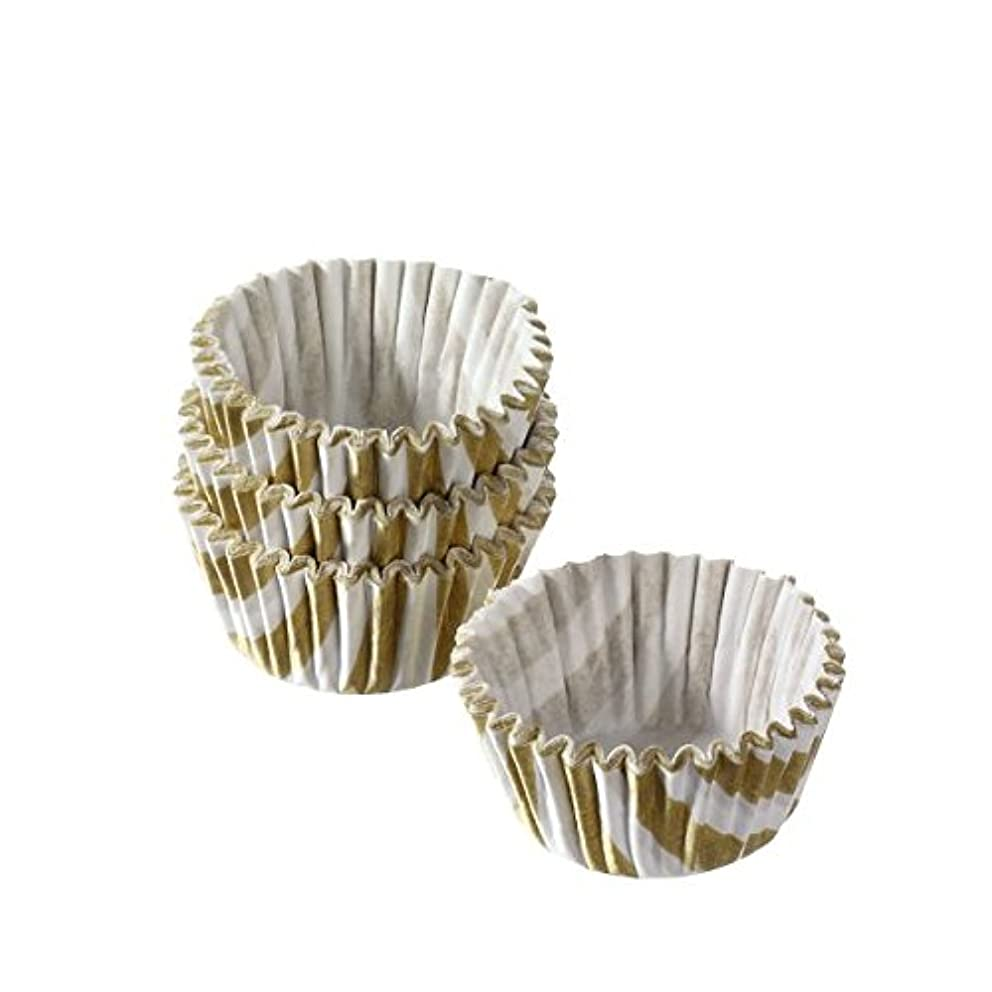 Susy Card 11353000?Treat Capsule Paper, Pack of 75?in Flow Pack, DOLD/White Stripes